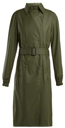 Paco Rabanne Double Breasted Trench Coat - Womens - Khaki