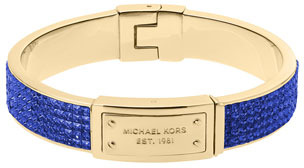 Michael Kors Pave Plaque Bangle, Sapphire/Golden