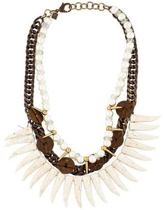 Dannijo Faux Pearl & Howlite Arjuna Collar Necklace