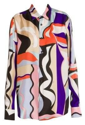 Emilio Pucci Vallauris Oversize Silk Twill Tunic