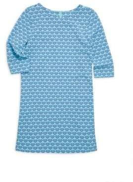 Vineyard Vines Little Girl's& Girl's Diamond Whale Tail Graphic Print Shift Dress