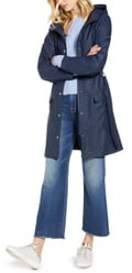 Halogen Waterproof Hooded Rain Jacket