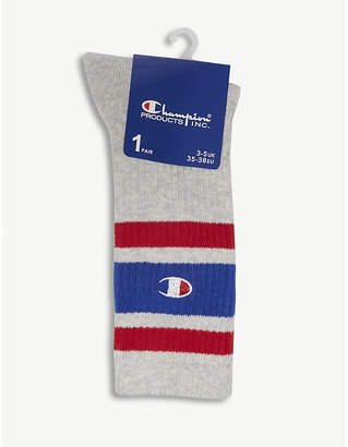 Champion Striped cotton-blend tube socks