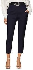 Etoile Isabel Marant Women's Noah Virgin Wool High-Rise Pants - Navy
