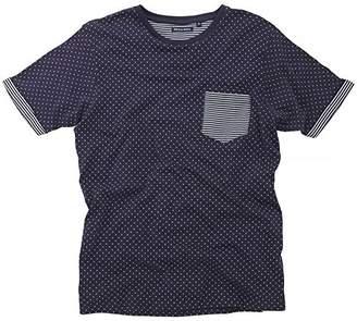 Brave Soul Mens Christi Short Sleeve Polka Dot T-Shirt (L)
