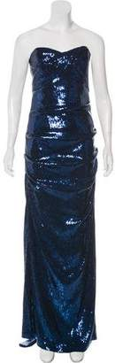 Nicole Miller Sequined Evening Dress w/ Tags