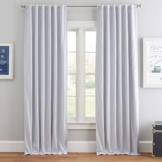 Pottery Barn Teen Simple Ticking Stripe Blackout Curtain, 84&quot, Royal Navy