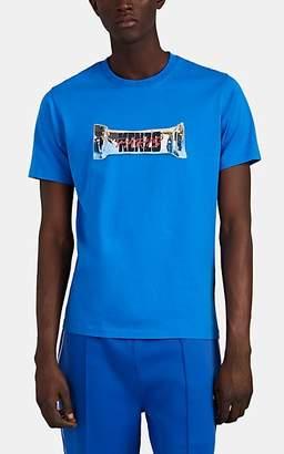 dbabac541c0c Kenzo Men's Logo Cotton T-Shirt - Blue
