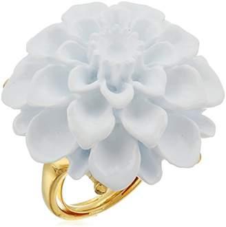 Kenneth Jay Lane Gold Flower Ring
