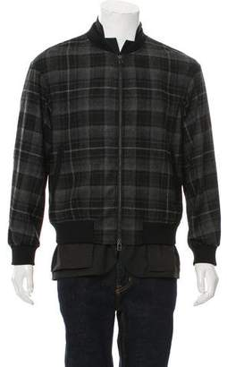 3.1 Phillip Lim Plaid Wool Bomber Jacket