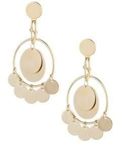 Eddie Borgo Golden Coin Earrings