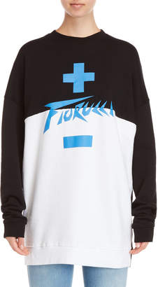 Fiorucci Color Block Oversized Sweatshirt