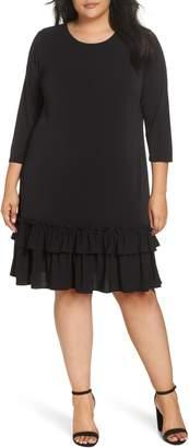 ECI Ruffle Hem Shift Dress