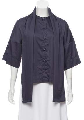 Reyes Short Sleeve Button-Up Top
