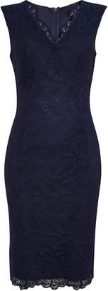 Wallis Navy Scallop Lace Shift Dress