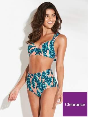 c50b6ad4f0 Very High Waist Ruched Side Bikini Bottom - Print