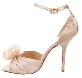 Christian Louboutin Rosazissimo Feather-Accented Sandals