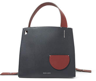 Lente Danse Margot Two-tone Textured-leather Tote - Blue