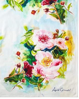"April Cornell Peony Tablecloth, 54""Sq."