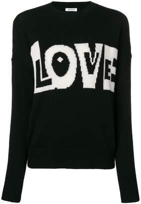 P.A.R.O.S.H. Love slogan jumper