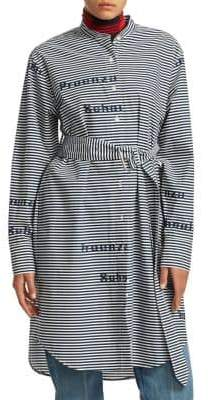 Proenza Schouler PSWL Belted Stripe Shirtdress