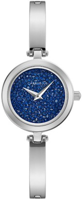 Caravelle Women's Crystal Bangle Watch