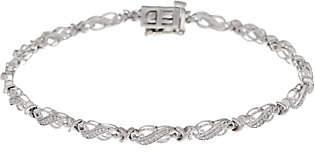 """Affinity Diamond Jewelry 8"""" Diamond Tennis Bracelet, 1/4 cttw, Sterlingby Affinity"""