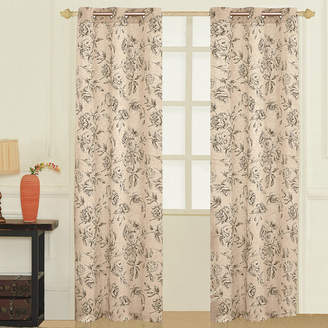 Co UNITED CURTAIN United Curtain Fiona Grommet-Top 2-Pack Curtain Panels
