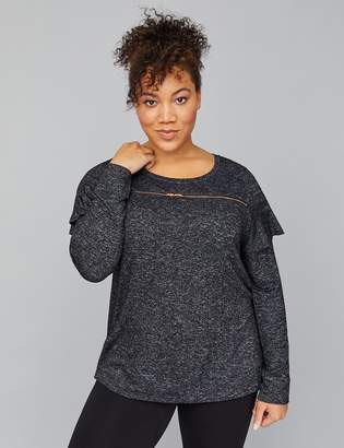 Lane Bryant Zipper Hacci Active Sweatshirt