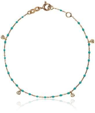 Gigi Clozeau 18k rose gold turquoise diamond bracelet
