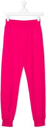 Moschino Kids gathered ankle track pants