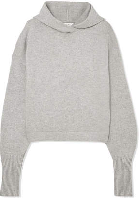 Tibi Hooded Cashmere Sweater - Gray