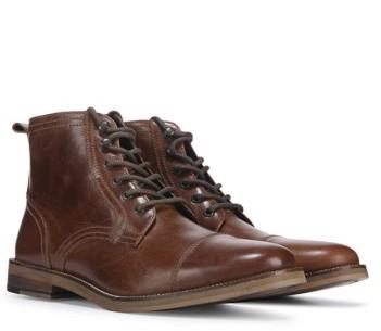 Crevo Men's Bookham Memory Foam Cap Toe Lace Up Boot