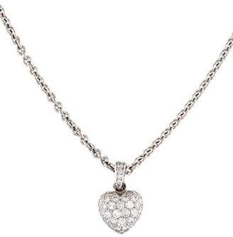 Cartier 18K Diamond Heart Pendant Necklace