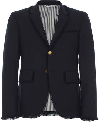 Thom Browne Frayed Wool Sport Coat
