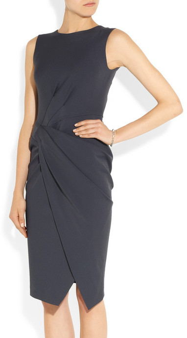 Donna Karan Gathered jersey dress