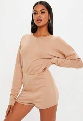 Missguided Camel Loopback Romper