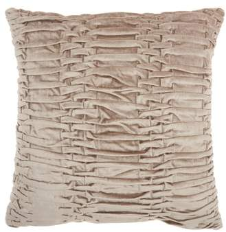 Mina Victory Pleated Velvet Accent Pillow