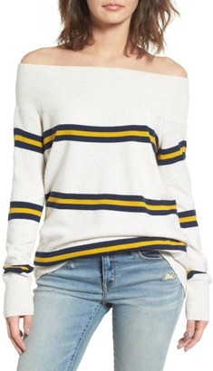 Women's Treasure & Bond Off The Shoulder Sweater $69 thestylecure.com