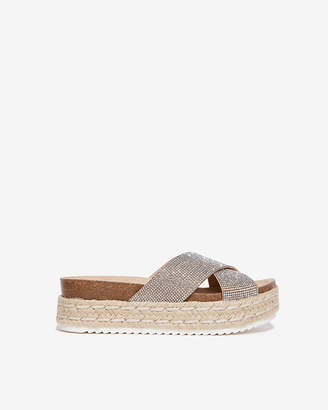 2367389e166 Silver Stacked Wedge Women's Sandals - ShopStyle