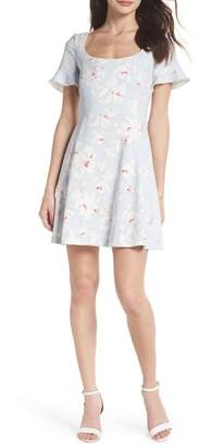French Connection Alba Scoop Neck A-Line Dress