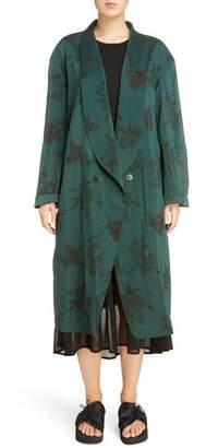 Y's by Yohji Yamamoto Floral Coat
