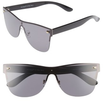 Women's A.j. Morgan Future 65Mm Sunglasses - Black/ Mirror $24 thestylecure.com