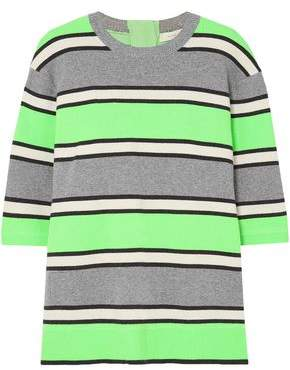 Marc Jacobs Neon Striped Cashmere Top