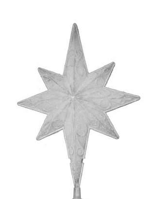 Asstd National Brand 11 LED Lighted Frosted White Bethlehem Star Christmas Tree Topper - Warm White Lights