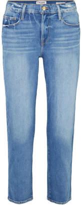Frame Le Nouveau Cropped Mid-rise Straight-leg Jeans - Mid denim