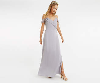 Oasis RUFFLE SATIN MAXI DRESS*