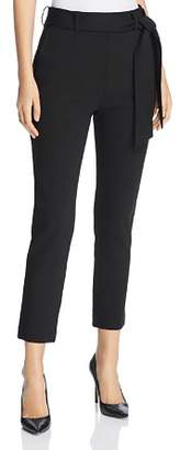 Three Dots Belted Ponte Cropped Pants