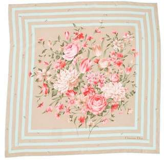 Christian Dior Floral Printed Scarf