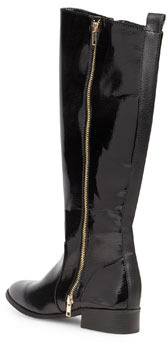 Dorothy Perkins Black patent riding boots